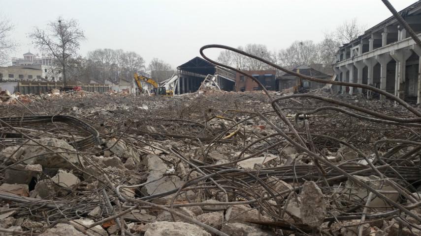郑州纺织机械厂房屋拆除